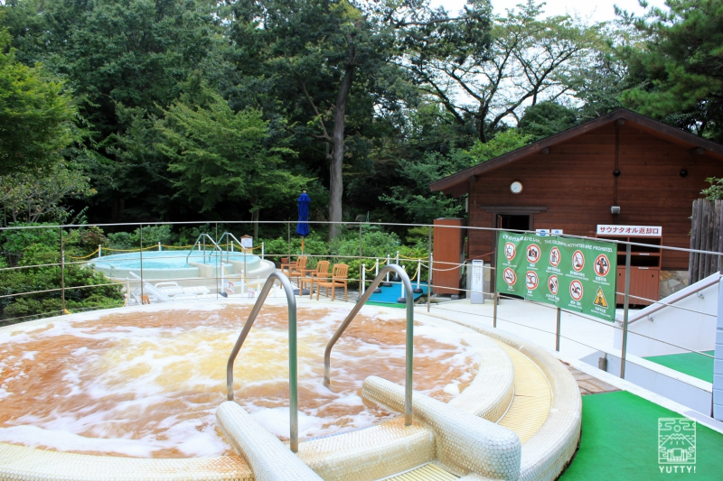豊島園 庭の湯の源泉ジャグジーの写真