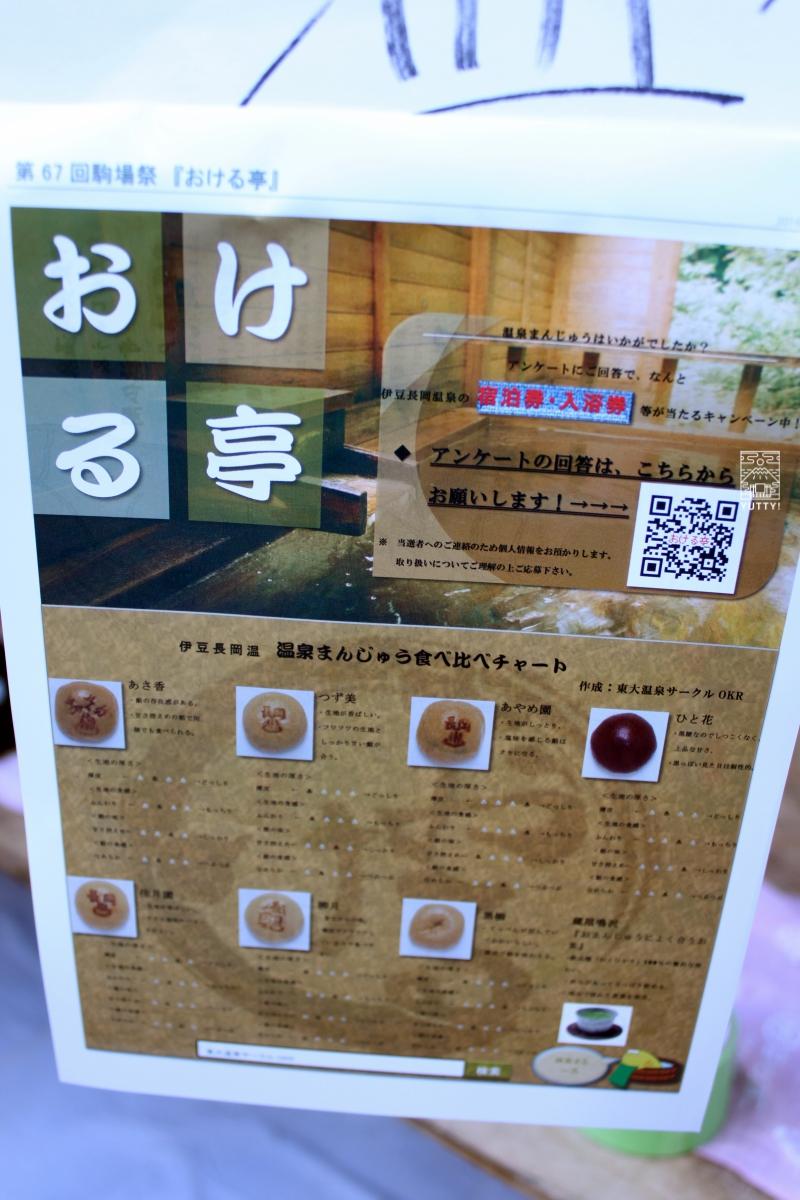 東大温泉サークルOKRの食べ比べチャートの写真