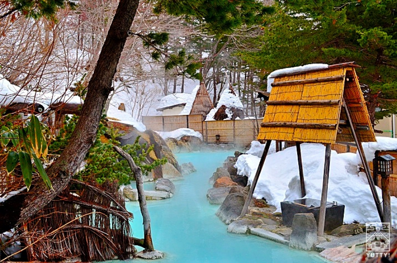 福島・高湯温泉「安達屋旅館」の露天風呂の写真