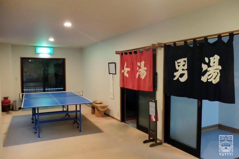 梅ヶ島温泉【湯の宿いちかわ】の卓球台の写真