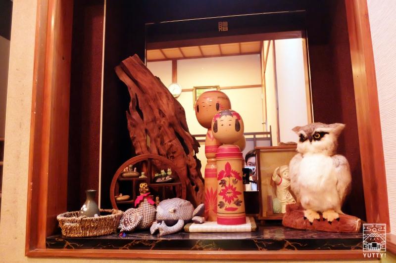 梅ヶ島温泉【湯の宿いちかわ】の置物の写真