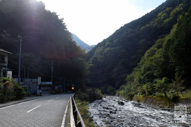 梅ヶ島温泉の渓谷の写真