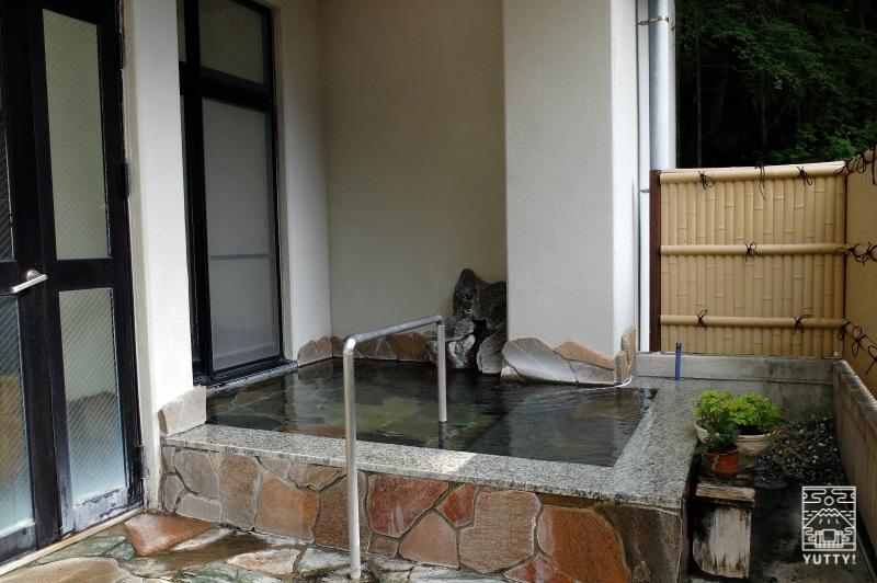 梅ヶ島温泉【湯の宿いちかわ】の露天風呂の写真