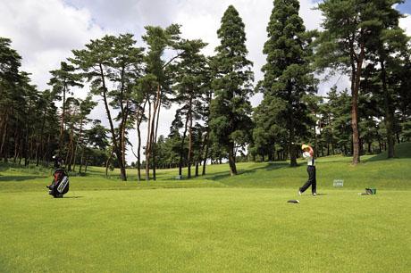 ゴルフ中の写真