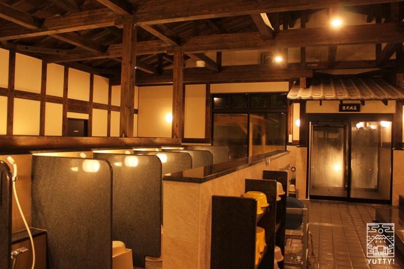 【佐倉天然温泉 澄流】の大浴場のカランの写真
