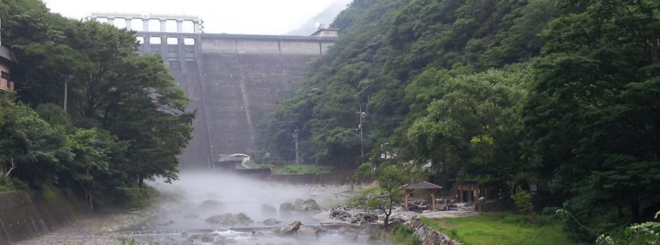 岡山・湯原温泉「砂湯」の写真