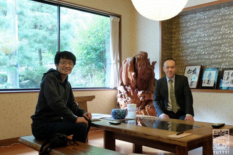 湯の島館のオーナー秋山さんの写真