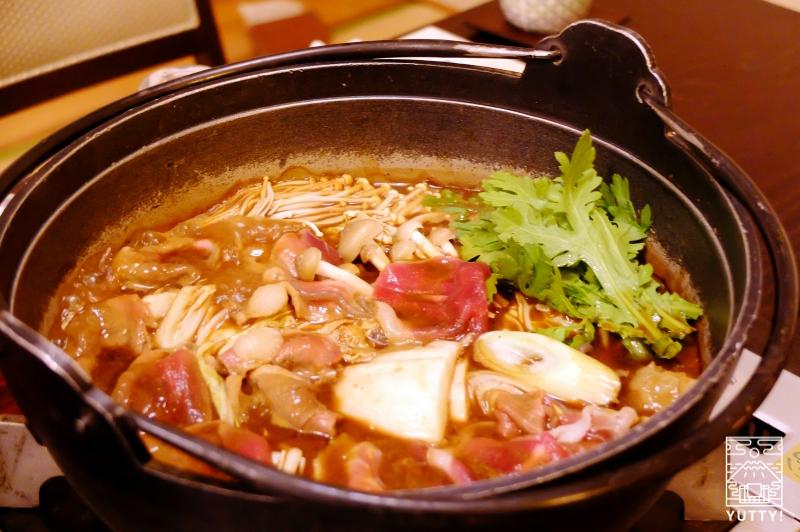 秘境温泉【油山苑】の牡丹鍋の写真