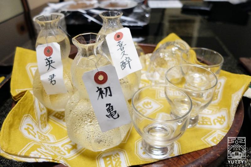 秘境温泉【油山苑】の静岡の地酒の写真