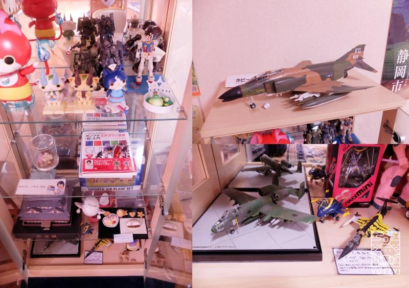 秘境温泉【油山苑】のロビーにあるプラモデルの写真