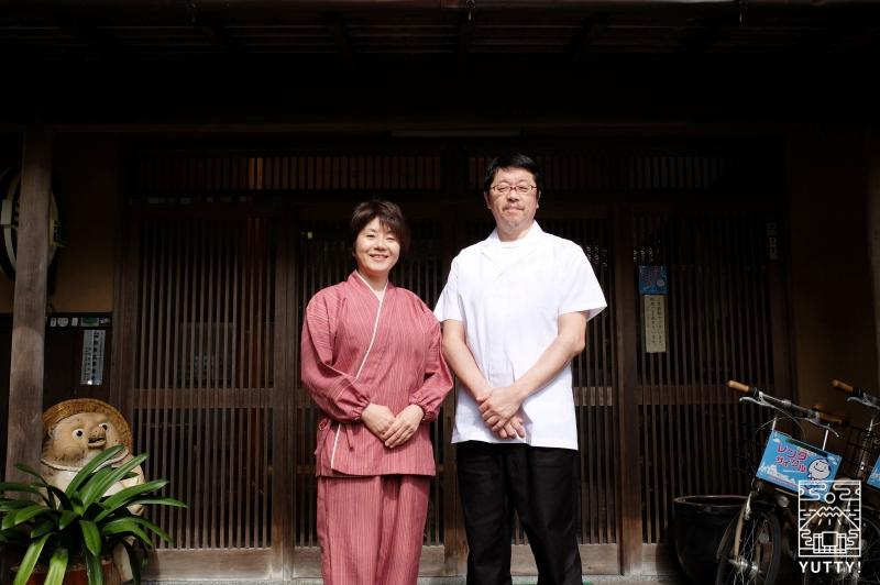 秘境温泉【油山苑】の若旦那・若女将の大塚さんご夫妻の写真