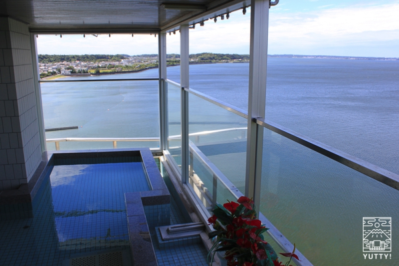 舘山寺サゴーロイヤルホテルの展望露天風呂の写真