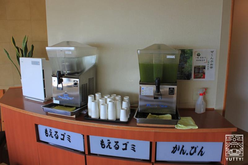 舘山寺サゴーロイヤルホテルのサービスの湯上りドリンクの写真