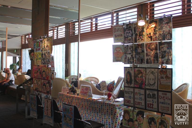 舘山寺サゴーロイヤルホテルの似顔絵ブースの写真