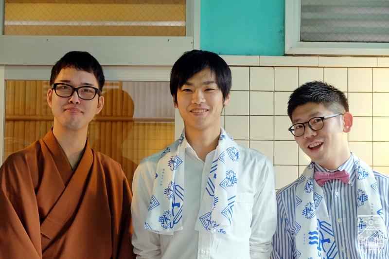 第一回講師の飯田結太さん、田村祐一さん、第二回講師の立川かしめさんの写真