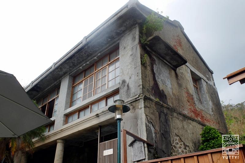 四重渓温泉 清泉日式温泉旅館の古い建物の外観