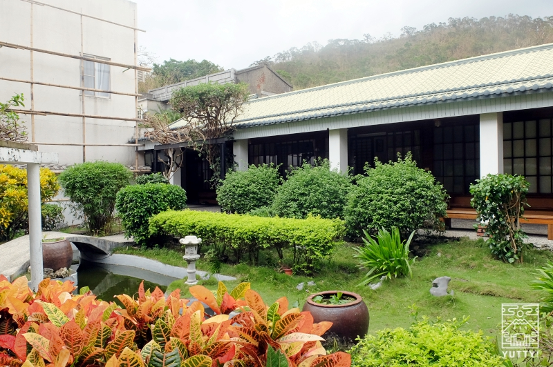 四重渓温泉 清泉日式温泉旅館の日本風庭園(中庭)の写真