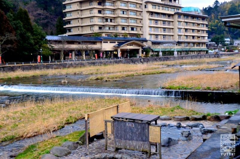 鳥取・三朝温泉「河原の湯」の写真