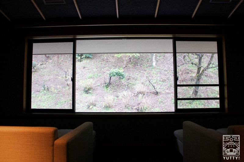 静岡天然温泉 おふろcafe bijinyu 美肌湯  の裏の山の写真