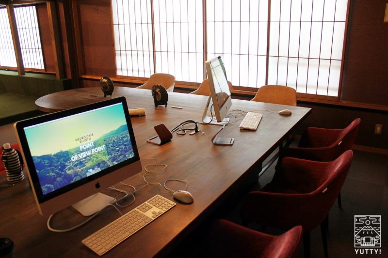 静岡天然温泉 おふろcafe bijinyu 美肌湯  の「コワーキングスペース」の写真