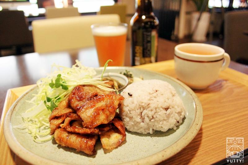 静岡天然温泉 おふろcafe bijinyu 美肌湯  の「定食プレート」の写真