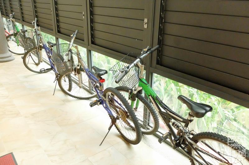 牡丹風情温泉の貸し出し自転車の写真