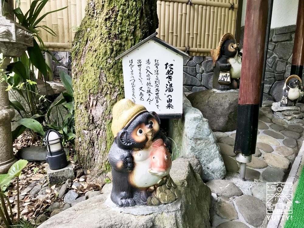厚木 元湯旅館のたぬき風呂1