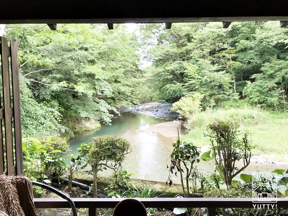 厚木 元湯旅館の露天風呂付き客室1