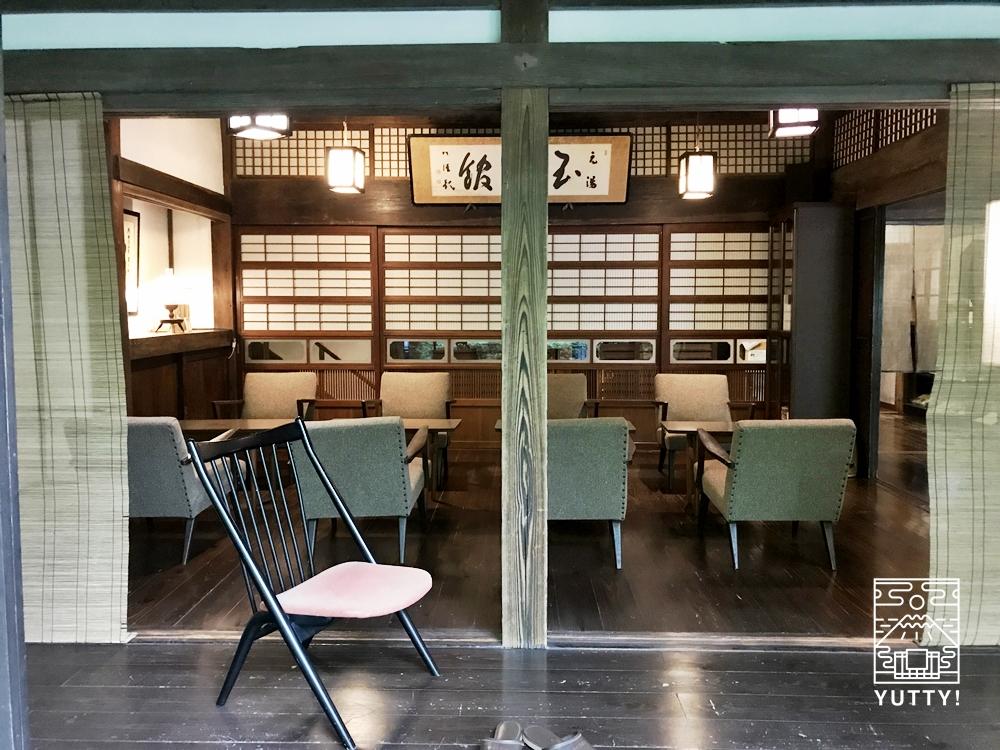 七沢温泉元湯玉川館のラウンジ