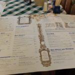 レーベンブロイレストラン バーデン=バーデン店のメニュー表の写真