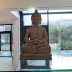 カラカラ浴場のウェルネスエリアの石像の写真