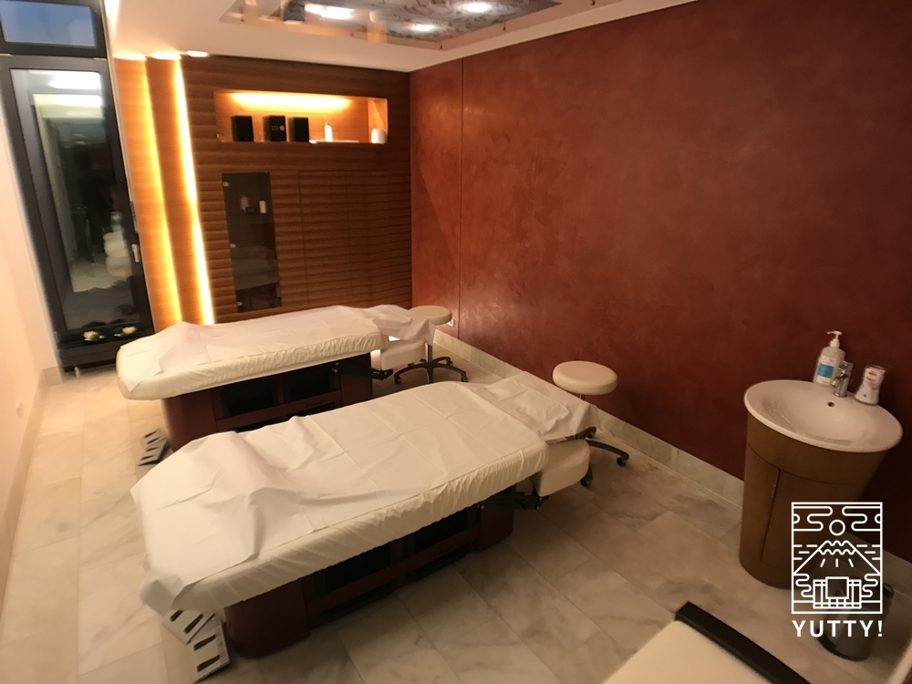 カラカラ浴場のウェルネスエリアのマッサージルームの写真