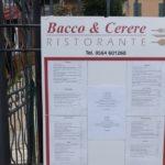 Bacco & Cerere 2.0 Ristoranteの看板の写真
