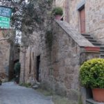 チヴィタの街並みの写真
