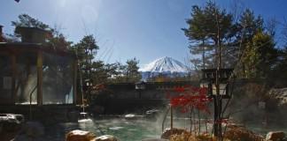 山梨 富士眺望の湯 ゆらり 露天風呂の写真