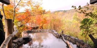 熊本 いやしの里 樹やしき 立ち湯付きの露天風呂の写真