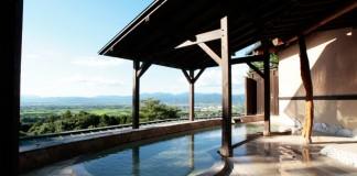 耳納山の中腹にある温泉施設、みのう山荘